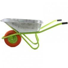 Тачка садово-строительная с полиуретановым колесом, грузоподъемность 180 кг, объем 90 л СибрТех [689685]