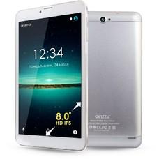 Планшет GINZZU GT-8105, 1GB, 8GB, 3G, Android 6.0 серебристый [00-00001047]