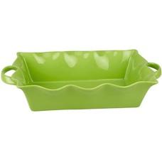 Форма для выпечки Frybest PROV-45P прямоуг. 45х26х8,5см керамика зеленый