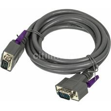 Кабель VGA HAMA H-42089, VGA (m) - VGA (m), 1.8м, серый [00042089]