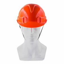 Каска защитная с храповым механизмом, ЕВРОПЛАСТ, оранжевая СибрТех [89108]