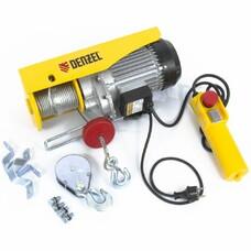 Тельфер электрический TF-800, 0.8 т, 1300 Вт, высота 12 м, 8 м/мин  Denzel [52014]