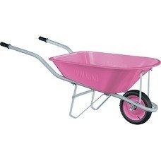 Тачка садовая Pink Line, одноколесная объем 78 л Palisad [68969]