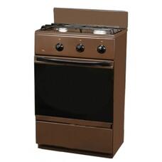 Газовая плита FLAMA CG 3202 B, газовая духовка, коричневый