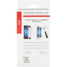 Защитное стекло для экрана DF aColor-10  для Asus Zenfone 4 Live ZB553KL,  1 шт, белый [df acolor-10 (white)]