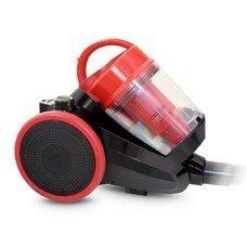 Пылесос GINZZU VS422, 1600Вт, черный/красный