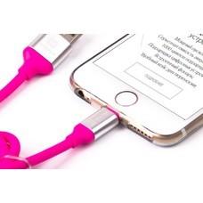 Кабель HARPER Lightning - USB 2.0, 1.0м, розовый [sch-530]