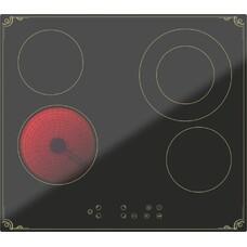 Варочная панель DARINA 4P8 E 326 B, Hi-Light, независимая, черный [55441]