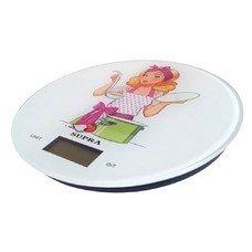 Весы кухонные SUPRA BSS-4602, белый/рисунок