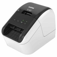 Принтер Brother QL-800 стационарный серебристый/черный [ql800r1]