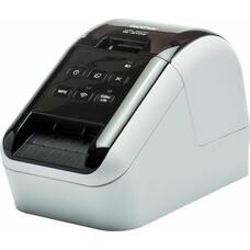 Принтер Brother QL-810W стационарный серебристый/черный [ql810wr1]