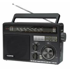 Радиоприемник настольный Harper HDRS-099 черный USB SD/microSD