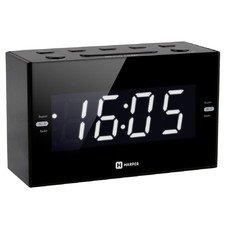 Радиобудильник Harper HCLK-2041 черный LED подсв:белая часы:цифровые AM/FM