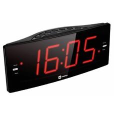 Радиобудильник Harper HCLK-2042 черный LED подсв:красная часы:цифровые AM/FM