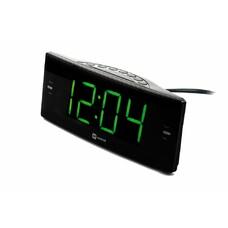 Радиобудильник Harper HCLK-2044 черный LED подсв:зеленая часы:цифровые AM/FM