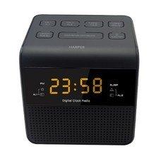 Радиобудильник HARPER HRCB-7750, янтарная подсветка, черный