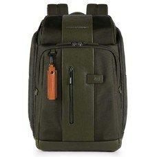 Рюкзак Piquadro Brief CA4443BR/VE зеленый натур.кожа/ткань