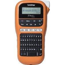 Принтер Brother P-touch PT-E110VP переносной оранжевый/черный [pte110vpr1]