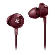 Наушники вкладыши Philips SHE4305RD 1.2м красный проводные (в ушной раковине)