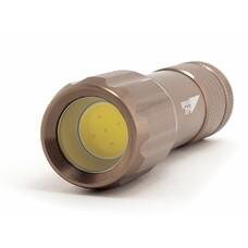 Карманный фонарь ЯРКИЙ ЛУЧ L-090 COB, коричневый