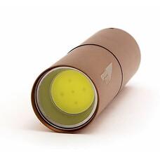 Карманный фонарь ЯРКИЙ ЛУЧ L-100 COB, коричневый