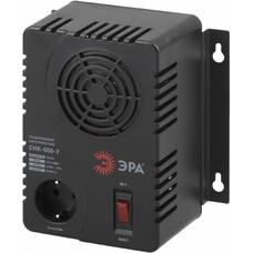 Стабилизатор напряжения ЭРА СНК-500-У, черный [б0031063]