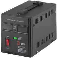 Стабилизатор напряжения ЭРА СНПТ-500-Ц, черный [б0020157]