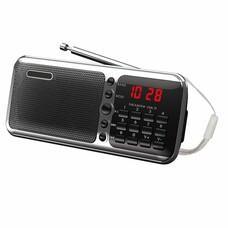 Радиоприемник портативный Сигнал РП-226 черный USB microSD
