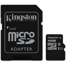 Флеш карта microSDHC 16Gb Class10 Kingston SDCS/16GB + adapter