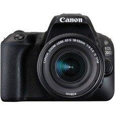 Зеркальный фотоаппарат CANON EOS 200D kit ( EF-S 18-55mm f/1:4-5.6 IS STM), черный [2250C002]