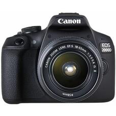 Зеркальный фотоаппарат CANON EOS 2000D KIT kit ( 18-55mm f/3.5-5.6 IS II), черный [2728C003]