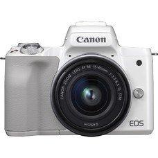 Фотоаппарат CANON EOS M50 kit ( 15-45 IS STM), белый [2681c012]