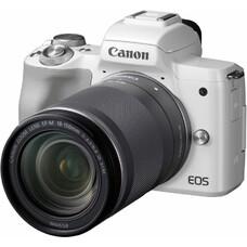 "Фотоаппарат Canon EOS M50 белый 24.1Mpix 3"" 4K WiFi 18-150 IS STM LP-E12"