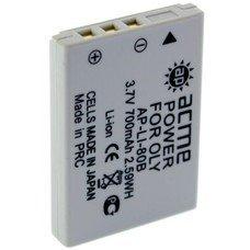 Аккумулятор ACMEPOWER AP-LI-80B, 3.7В, 660мAч, для компактных камер и видеокамер