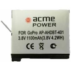 Аккумулятор ACMEPOWER AP-AHDBT-401, 3.8В, 1100мAч, для экшн-камер GoPro Hero4