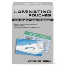 Пленка для ламинирования CACTUS CS-LPG6595100, 100мкм, 65х95 мм, 100шт., глянцевая