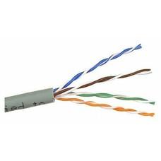Кабель информационный Lanmaster TWT-5EUTP/100-GY кат.5е U/UTP не экранированный 4X2X24AWG PVC внутренний 100м серый