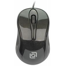 Мышь Oklick 385M черный оптическая (800dpi) USB для ноутбука (2but)