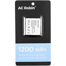 Аккумулятор AC ROBIN АК-00000757, Li-Ion, 3.85В, 1200мAч, для экшн-камер ZED5/ZED5 SE