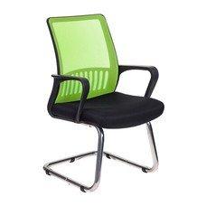 Кресло БЮРОКРАТ MC-209, на полозьях, салатовый/черный [mc-209/sd/tw-11]