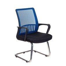 Кресло БЮРОКРАТ MC-209, на полозьях, синий/черный [mc-209/bl/tw-11]