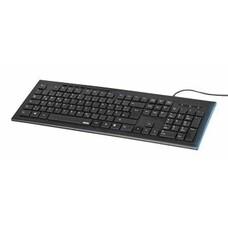 Клавиатура Hama Anzano черный USB Multimedia