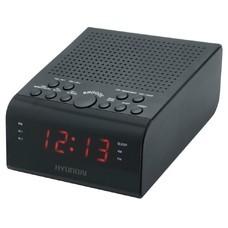 Радиобудильник HYUNDAI H-RCL180, красная подсветка, черный