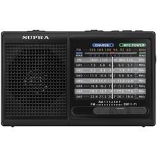 Радиоприемник портативный Supra ST-15U черный USB SD