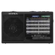 Радиоприемник портативный Supra ST-21UR черный USB SD