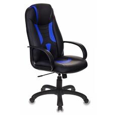 Кресло игровое БЮРОКРАТ Viking-8, на колесиках, искусственная кожа [viking-8/bl+blue]
