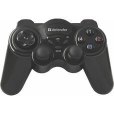 Геймпад Беспроводной Defender Game Master черный для: PC (64257)