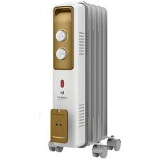 Масляный радиатор TIMBERK TOR 21.1005 BCX, 1000Вт, белый