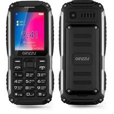 "Мобильный телефон Ginzzu R70 черный моноблок 2Sim 2.4"" 240x320 0.3Mpix BT GSM900/1800 GSM1900 Ptotect MP3 microSDHC max16Gb"