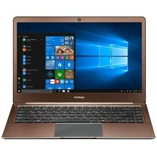 "Ноутбук Prestigio SmartBook 141S Celeron N3350/3Gb/eMMC32Gb/Intel HD Graphics 500/14.1""/IPS/FHD (1920x1080)/Windows 10 Home/dk.brown/WiFi/BT/Cam/5000mAh"